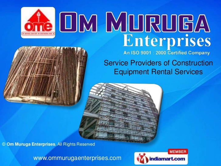 Service Providers of Construction Equipment Rental Services<br />