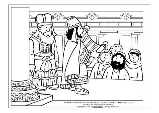 Coloring Page Young People In The Bible King Josiah SS Link Christian Life And Faith Biblical Foundation Obedience To God