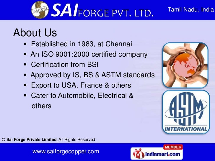 Tamil Nadu, India     About Us              Established in 1983, at Chennai              An ISO 9001:2000 certified comp...