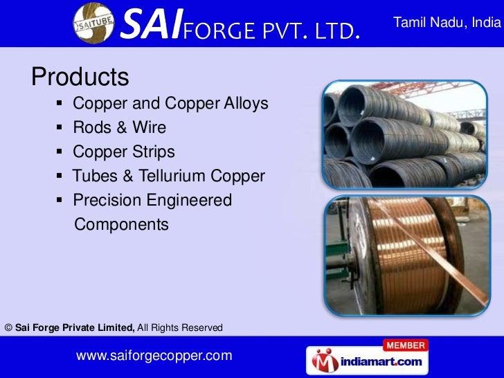 Tamil Nadu, India     Products              Copper and Copper Alloys              Rods & Wire              Copper Strip...