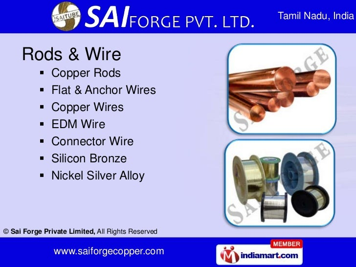 Tamil Nadu, India     Rods & Wire              Copper Rods              Flat & Anchor Wires              Copper Wires  ...