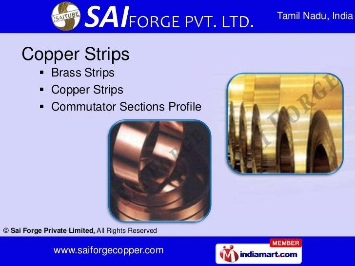 Tamil Nadu, India     Copper Strips            Brass Strips            Copper Strips            Commutator Sections Pro...