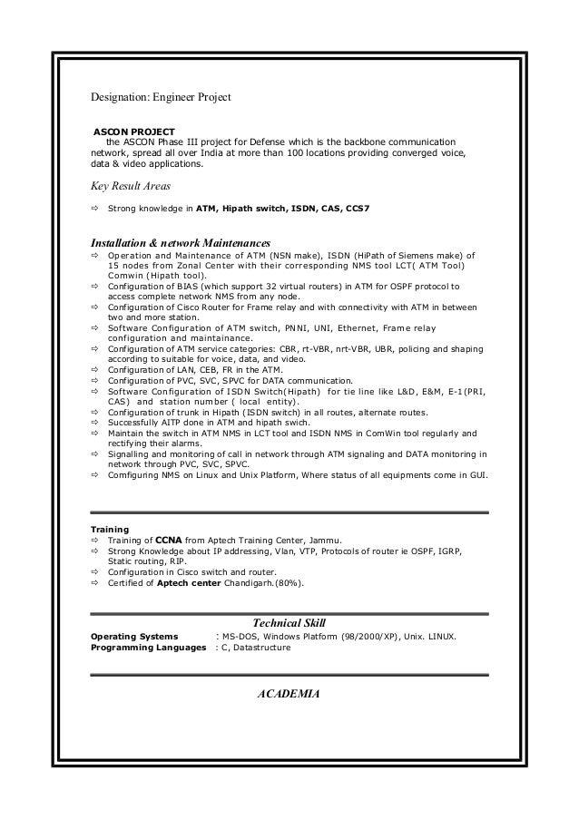 communications protocol linux resume india