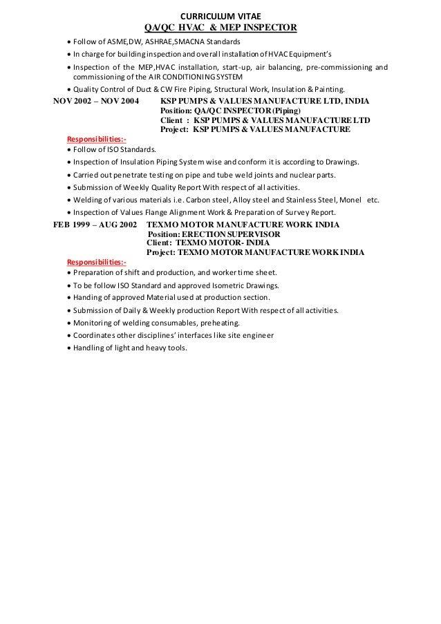 9 - Hvac Commissioning Engineer Sample Resume
