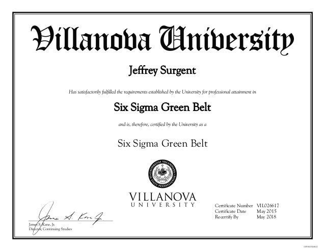sigma belt six certification certificate