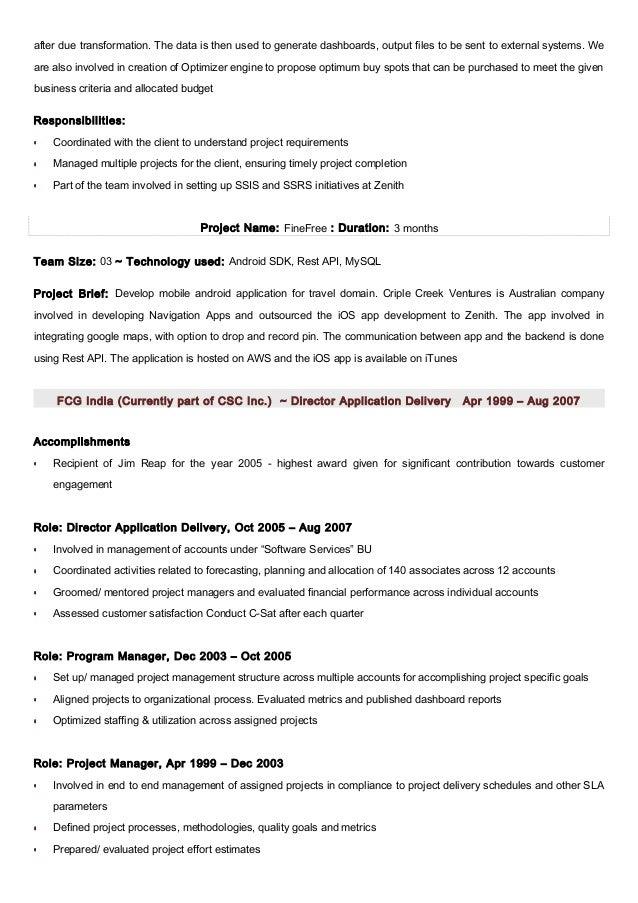 j2ee professional resume