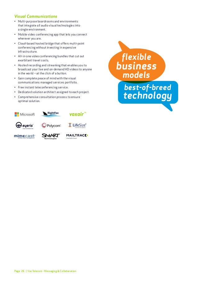 Page 29 Wi-Fi • Fully managed Wi-Fi suite for businesses (with  comprehensive SLAs), with secure network access  infras...