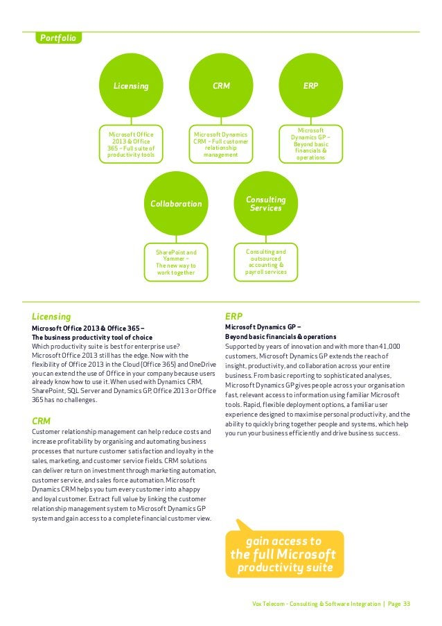 Page 36 Vox Telecom's management and monitoring solutions ensure peace of mind when it comes to business risk mitigation. ...