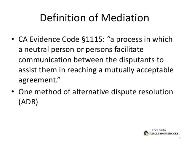 ADR & IP-Mediation What It Is, How It Works & How to Draft ...