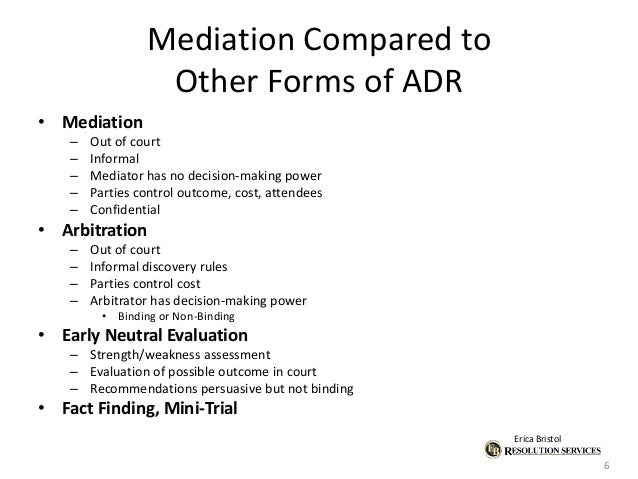 alternative dispute resolution adr mediation and