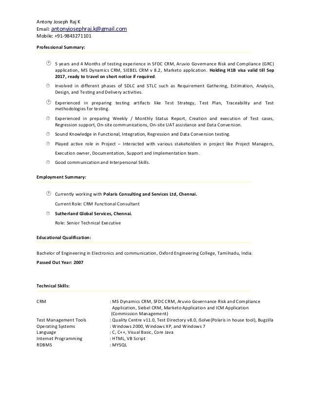 Antony Joseph-Resume
