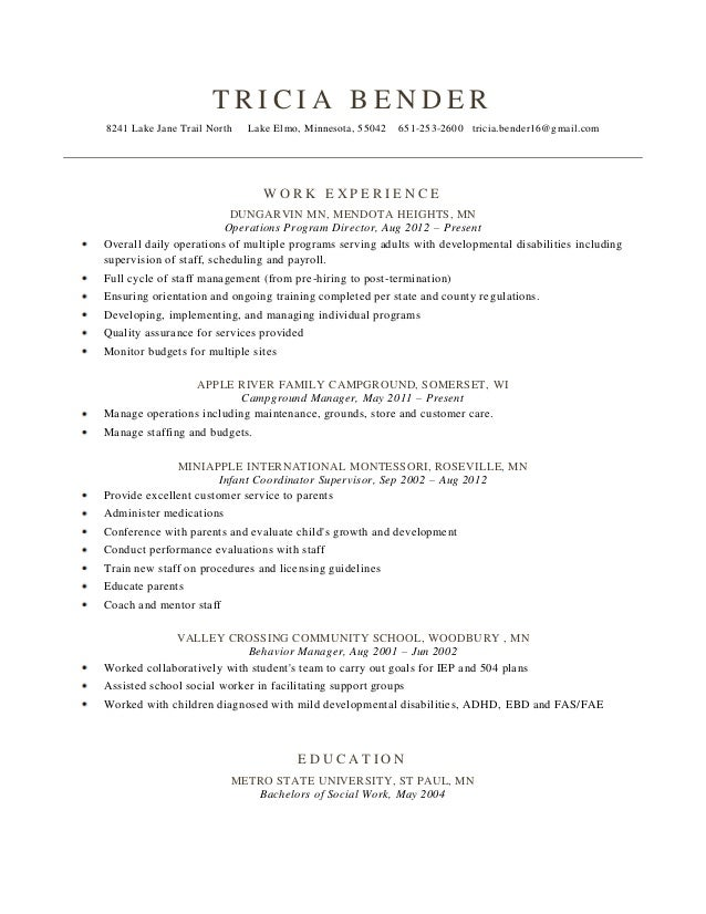 Beautiful Campground Management Resume Images - Best Resume Examples ...