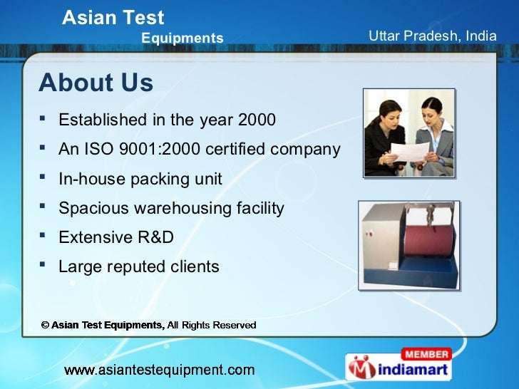 Fabric Testing Equipment by Asian Test Equipments, Ghaziabad Slide 2