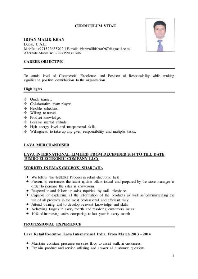 IRFAN MALIK KHAN resume (1)
