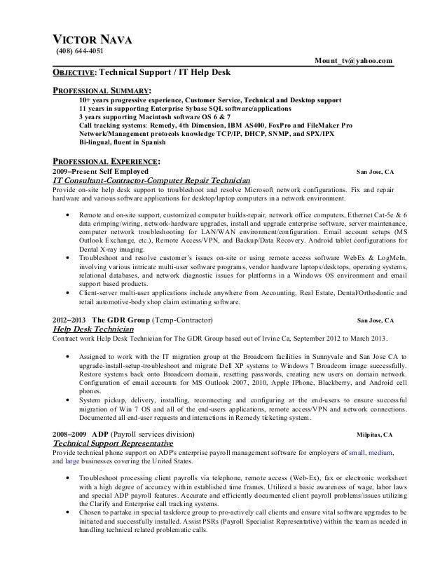 VVICTORICTOR NNAVAAVA (408) 644-4051 Mount_tv@yahoo.com OOBJECTIVEBJECTIVE:: Technical Support / IT Help Desk PPROFESSIONA...