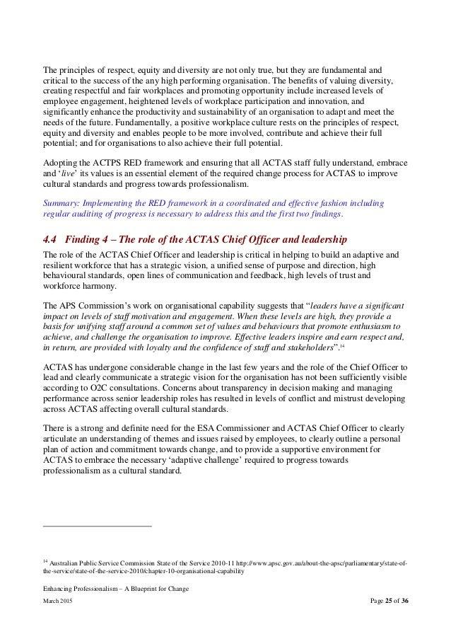 Actas enhancing professionalism a blueprint for change report 25 enhancing professionalism a blueprint malvernweather Choice Image