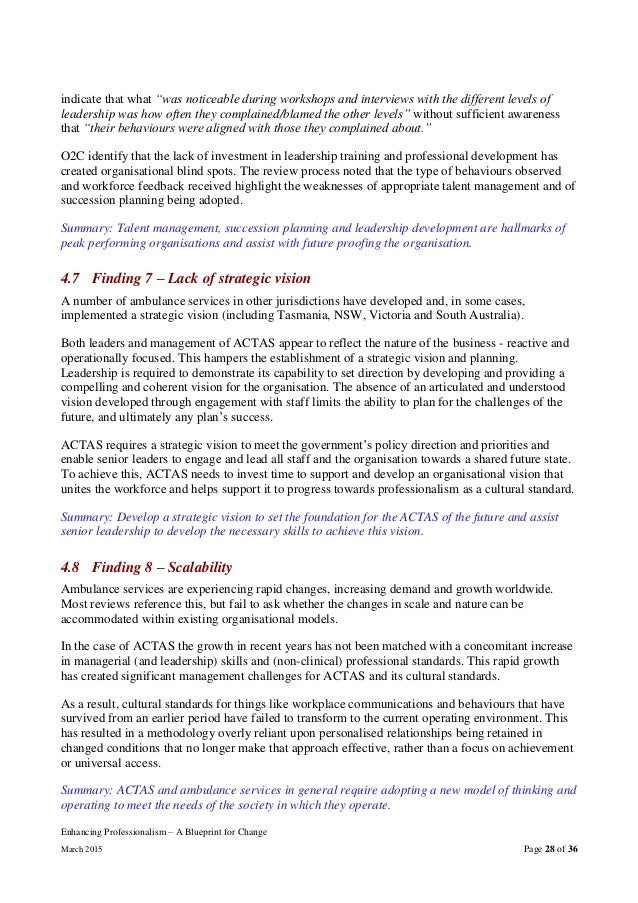 Actas enhancing professionalism a blueprint for change report they 15 lennox 2014 page 35 28 enhancing professionalism a blueprint malvernweather Choice Image