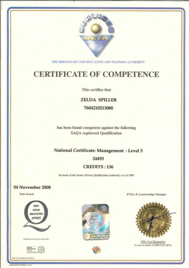 National Certificate Nqf 5 Management