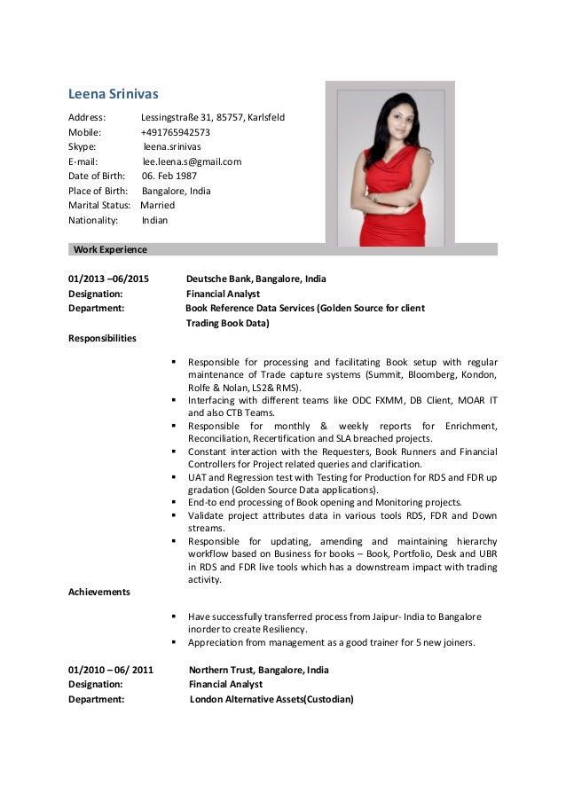 leena srinivas resume