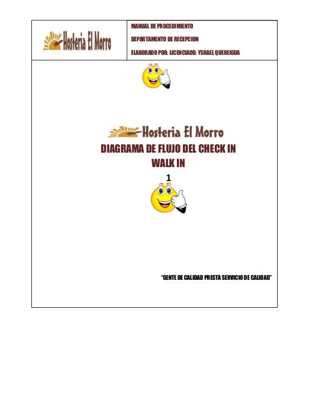 Manual procedimiento hotelera diagrama de flujo ccuart Gallery