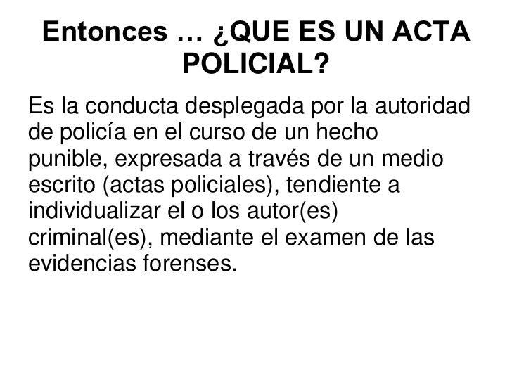 Resultado de imagen para ACTAS POLICIALES