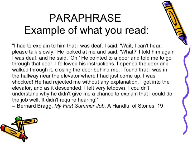 paraphrasing in an essay purdue owl quoting paraphrasing and summarizing