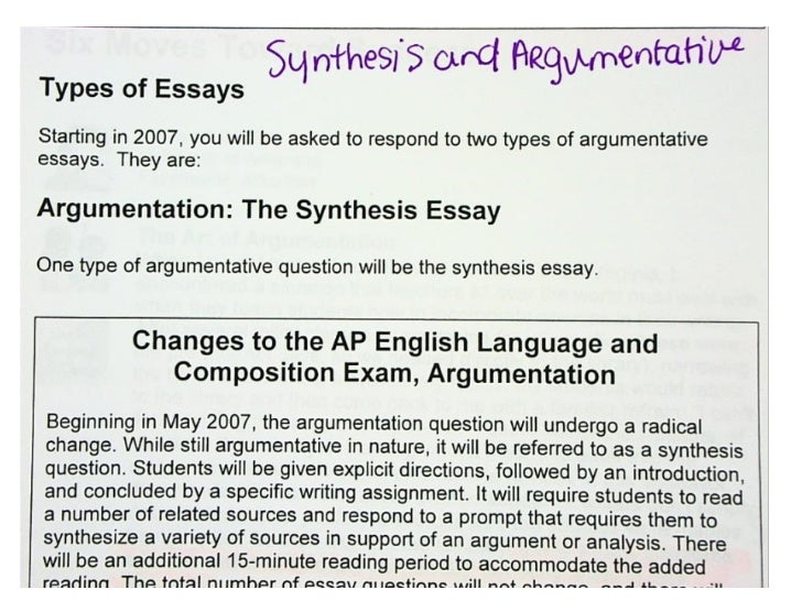 Synthesis&Argumentative Test Tips from College Board Slide 2
