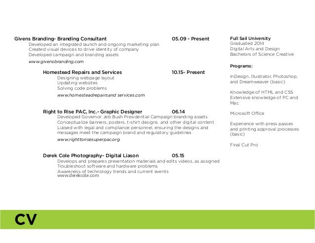 Givens Branding- Branding Consultant 05.09 - Present  Developed an integrated launch and ongoing marketing plan  Cr...