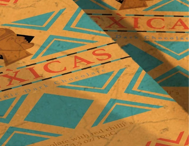 Mexicas is an organic dark chocolate (or Xocolatl as the Aztecs call it) packaging originating from Mexico with classic fl...