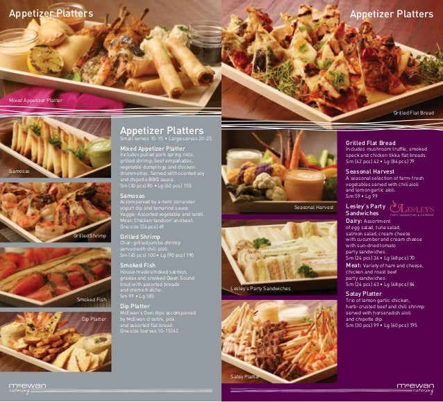 McEwan Catering Brochure (NEW) 2015
