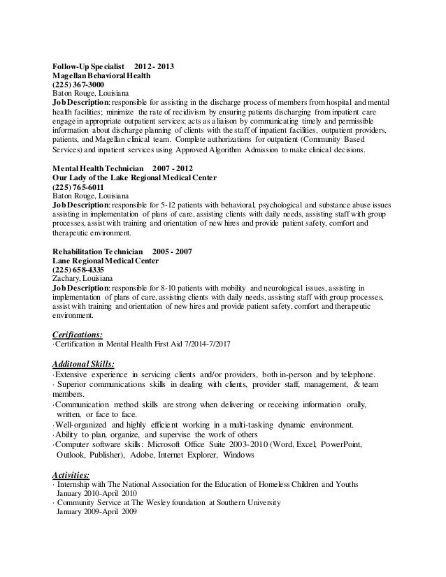 Sheralyn Vessel Resume
