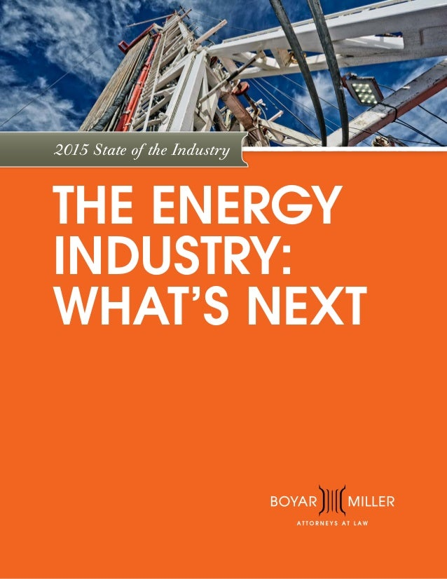 2015 State of the Industry THE ENERGY INDUSTRY: WHAT'S NEXT