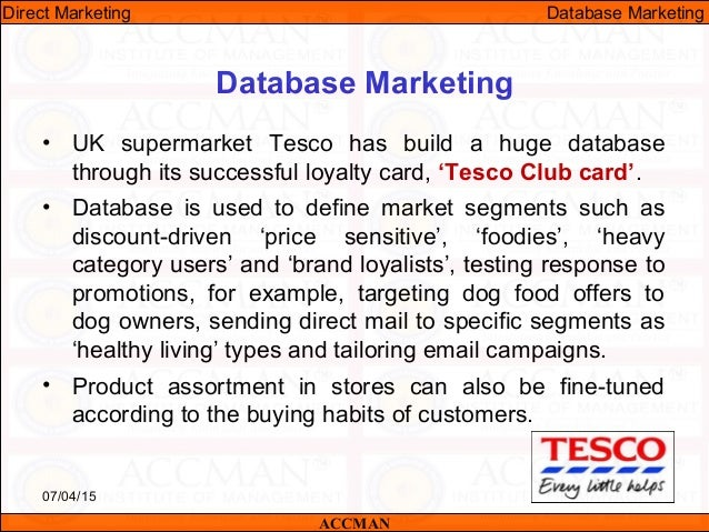 how to create a marketing database