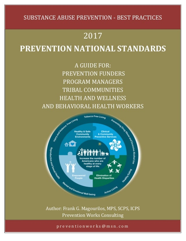 [Type text] Page 0 p r e v e n t i o n w o r k s @ m s n . c o m SUBSTANCE ABUSE PREVENTION - BEST PRACTICES 2017 PREVENTI...