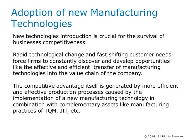 impacts of manufacturing