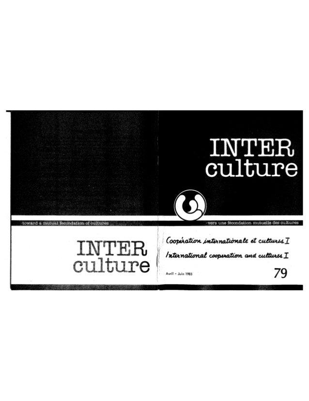 79 coopération internationale et cultures. cahier i. r. vachon, k. das (textes fr. et angl.) (document à télécharger e...