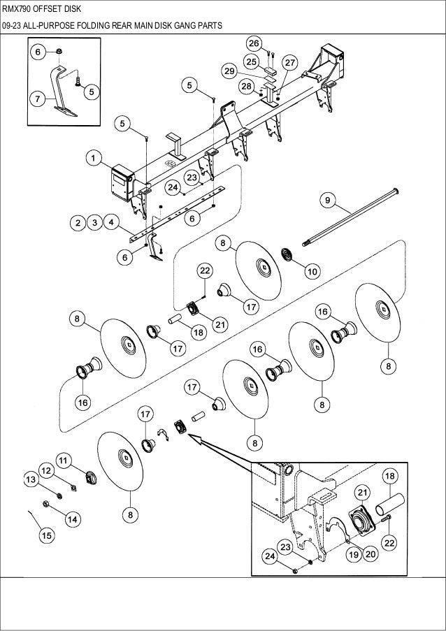 Case Rmx 790 Offset Disk Parts Catalog