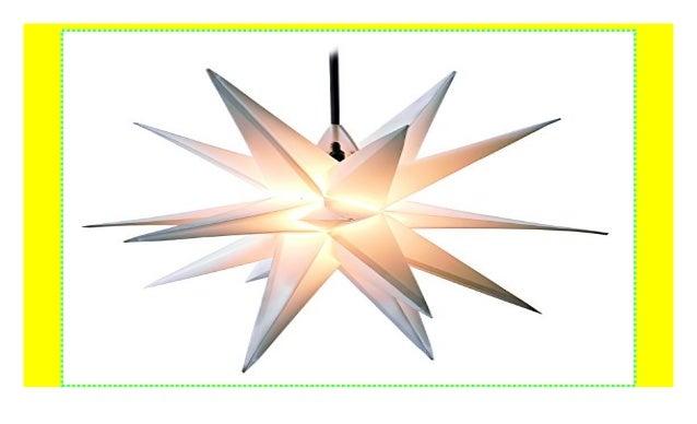 LED Außenstern WEISS 3D Weihnachtsstern 65cm INKL LEUCHTMITTEL Leucht Stern