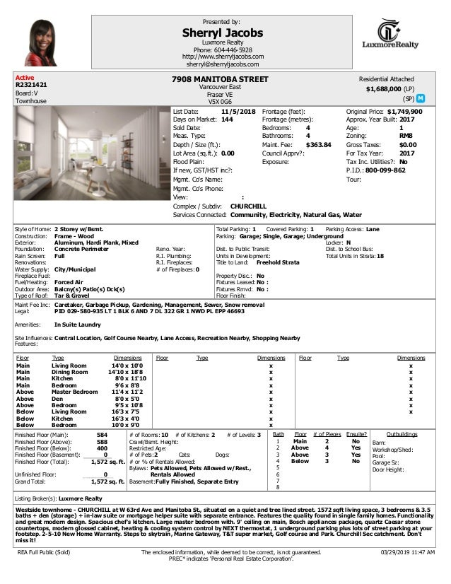 (LP) (SP) Complex / Subdiv: Depth / Size (ft.): Lot Area (sq.ft.): Flood Plain: View: Bedrooms: Bathrooms: If new, GST/HST...