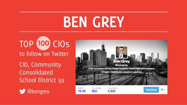 Top 100 CIOs to Follow on Twitter Slide 16