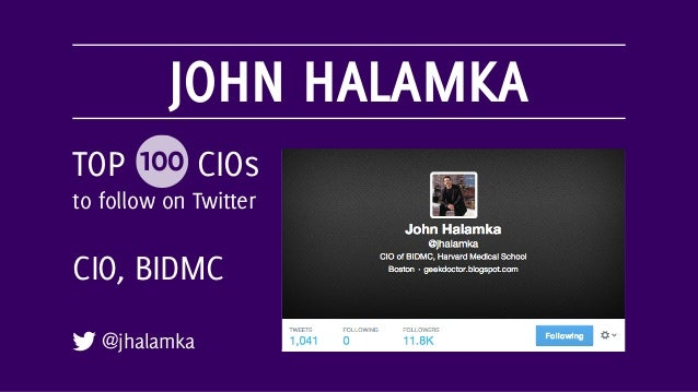PETER YARED @peteryared TOP 100 CIOs to follow on Twitter CIO, CBS Interactive
