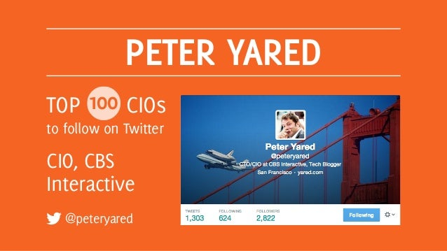 Top 100 CIOs to Follow on Twitter Slide 18