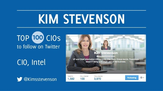 Top 100 CIOs to Follow on Twitter Slide 2