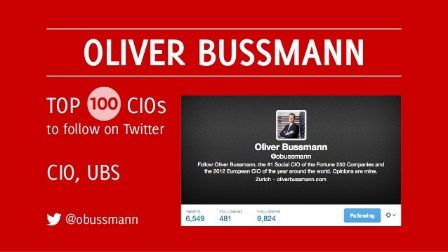 Top 100 CIOs to Follow on Twitter Slide 3