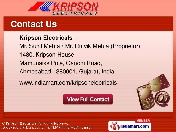 Wiring Accessories By Kripson Electricals Ahmedabad