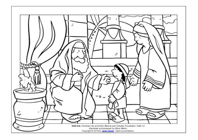 Coloring Page Young People In The Bible The Boy Samuel
