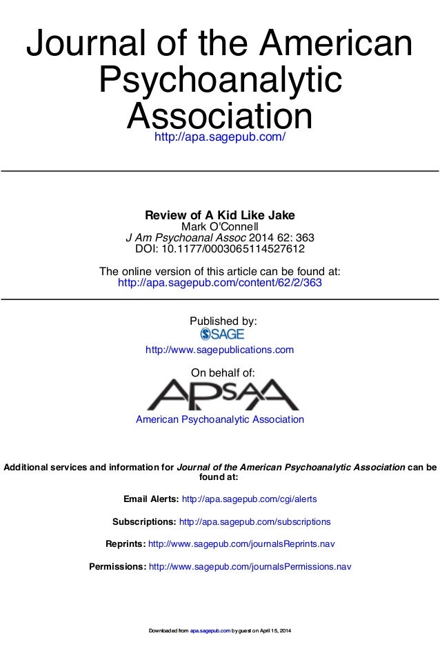 http://apa.sagepub.com/ Association Psychoanalytic Journal of the American http://apa.sagepub.com/content/62/2/363 The onl...
