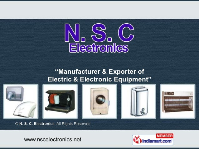 """""""Manufacturer & Exporter ofElectric & Electronic Equipment"""""""