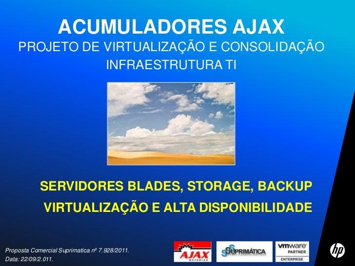 ACUMULADORES AJAX    PROJETO DE VIRTUALIZAÇÃO E CONSOLIDAÇÃO               INFRAESTRUTURA TI            SERVIDORES BLADES,...