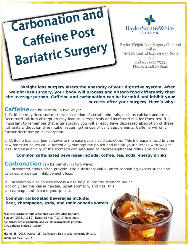 Caffeine And Carbonation Post Bariatric Surgery